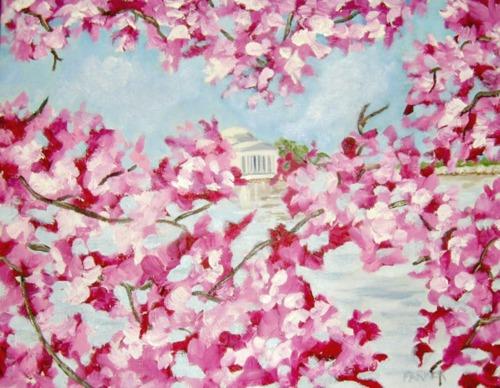 Jefferson Memorial Through the Cherry Blossoms