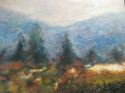 semi abstract landscape, brushstrokes, impressionist feel, blurry, hazy,desolation (thumbnail)