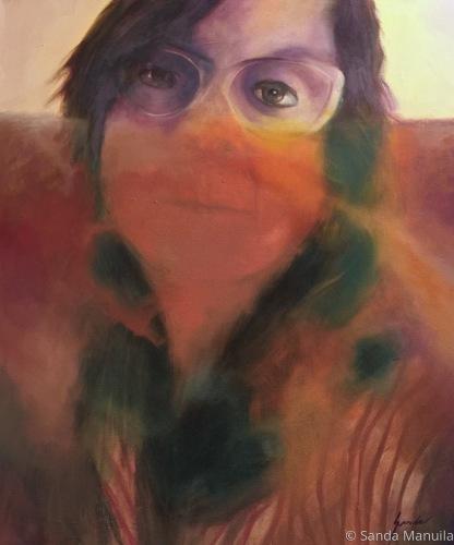 Painting--Oil-PortraitSelf Portrait in Pollution