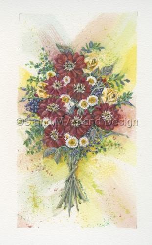 Red Rainbow Bouquet