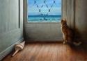 CAT IN THE DOORWAY (thumbnail)