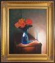 Roses in a blue vase (thumbnail)
