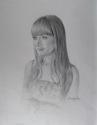 Pencil drawing of young woman (thumbnail)