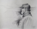 Pencil study for oil painting of civil war soldier (thumbnail)