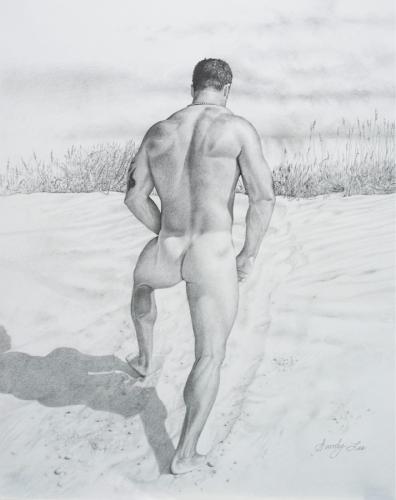 BRIAN ON BEACH by SANDY LEE FINE ART