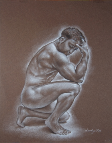 Brian kneeling