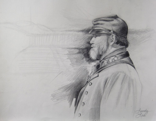 Pencil study for civil war soldier