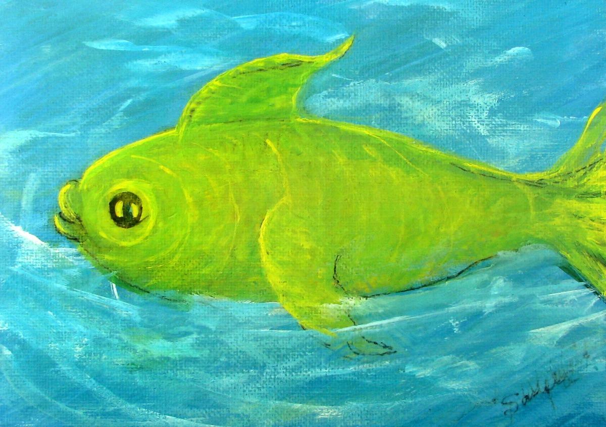 ocean, sea life, fish, green, aqua, warm, sentimental, cute, kids, baby (large view)