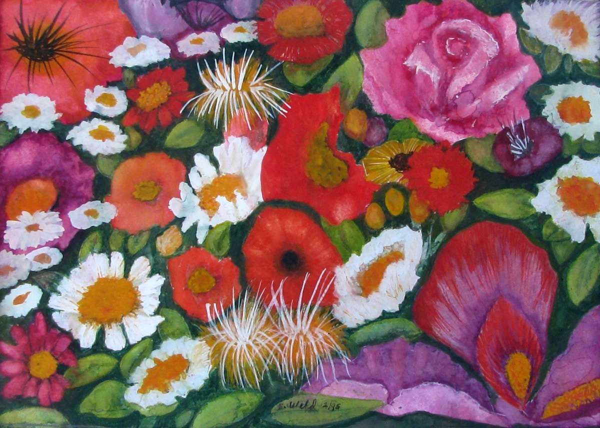 flowers, floral, Impressionism, still life, medley, nature (large view)