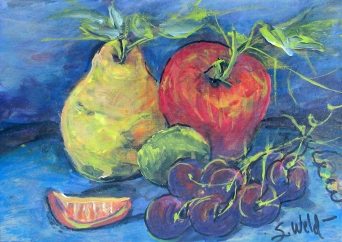fruit, yellow, grapes, harvest, fall, still life (large view)