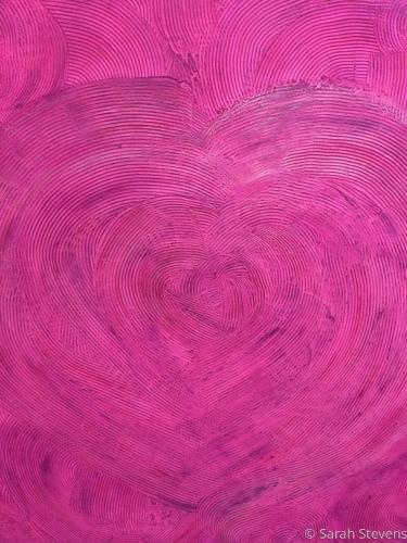 Happy Crazy Love 36x36