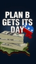 This Plan B graphic aired over the should of anchors of FOX Business. (thumbnail)