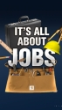 This Jobs graphic aired over the should of anchors of FOX Business. (thumbnail)