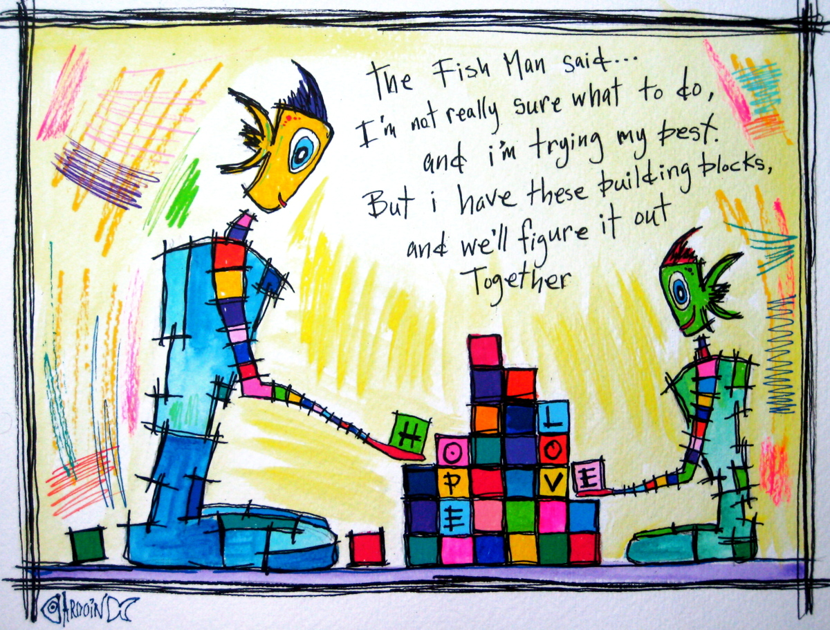 FISH PEOPLE-'Building Blocks' (large view)