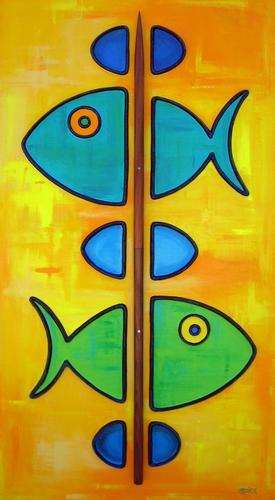 Fish-Kabob #2 (with Koa skewer) (large view)