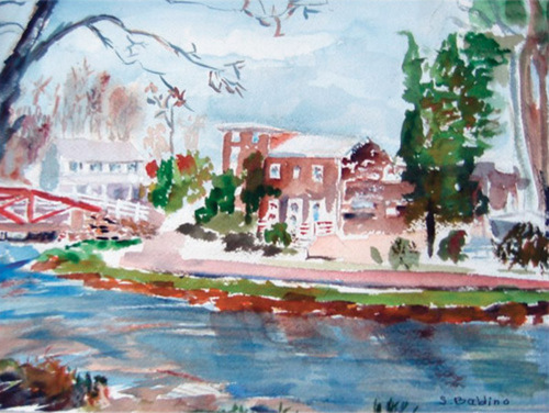 Canal at Yardley (Giclee Print) (large view)