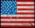 American Flag with fallen stars and hand gun (thumbnail)