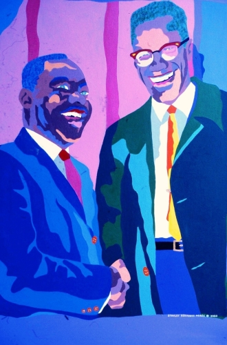 Martin Luther King and Malcom X