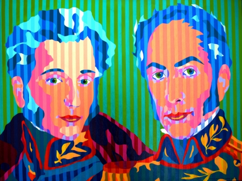 Antonio Jose de Sucre and Simon Bolivar
