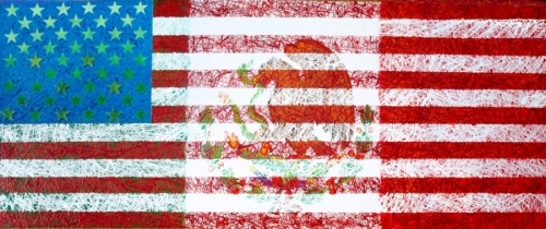 fusion on the mexican and american flag (thumbnail)