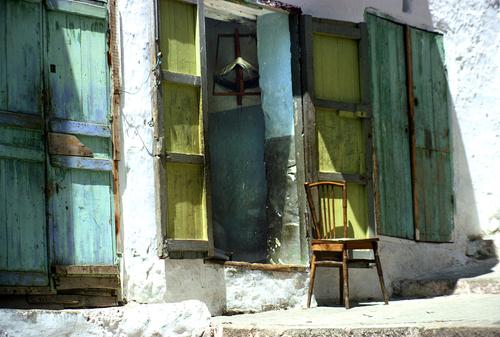 Door With Chair