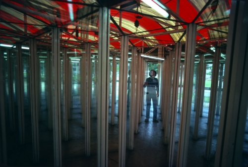 Boy Lost In A Mirror Maze