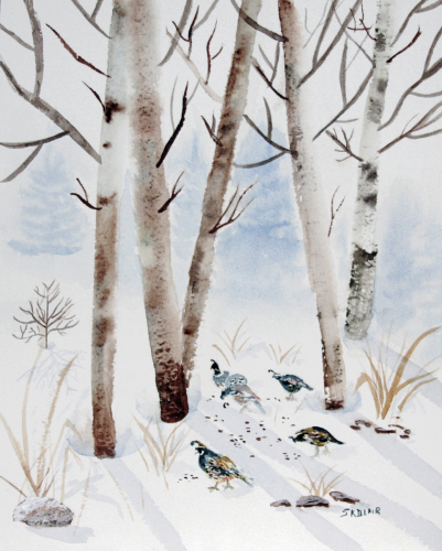 Quail in the Snow
