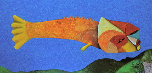 Mythological Fish traveling through my dreams (large view)