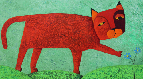 Charlie the Red Cat (large view)