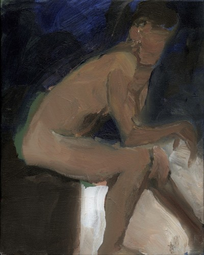 Seated figure leaning by Steven Boksenbaum