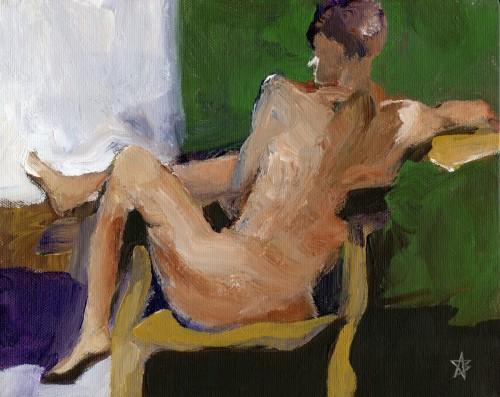 Nude reversed on chair