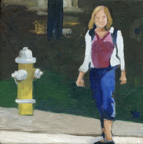 Girl with the Yellow Hydrant