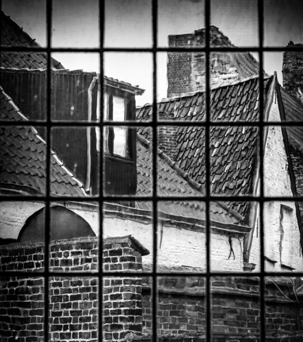 Brugges Rooftops, 2014 by Scott Alan Brill