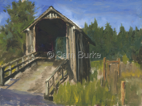 Covered Bridge, Humbolt County, California