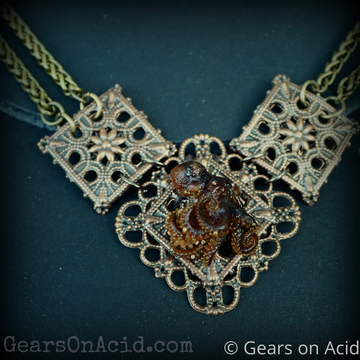 Octopus Necklace: Copper (large view)
