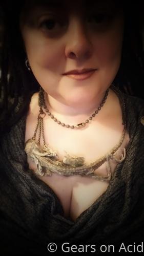 Lizard Necklace by Gears on Acid