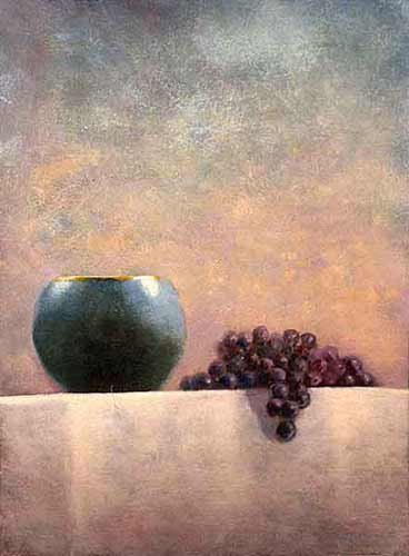 Blue Vase, Grapes