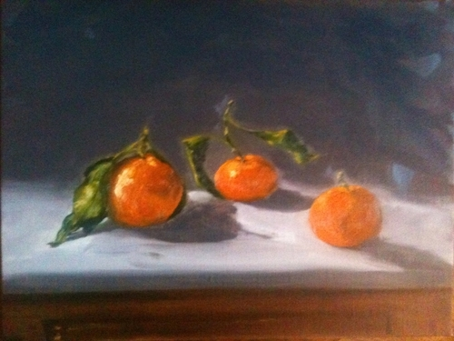 Clementines on Marble Slab (large view)