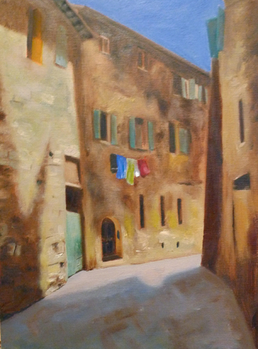 Laundry Day, San Gimignano (large view)