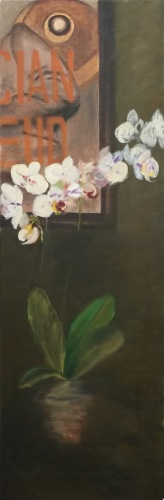 Lucian Freud with Orchids II