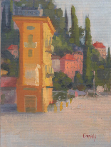 Lake Como - Landscape with Yellow Building