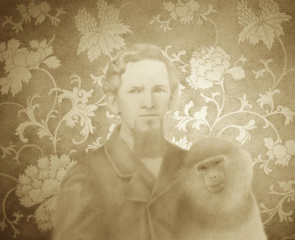 Benjamin Wood Fairbanks and Douc Langur  (large view)