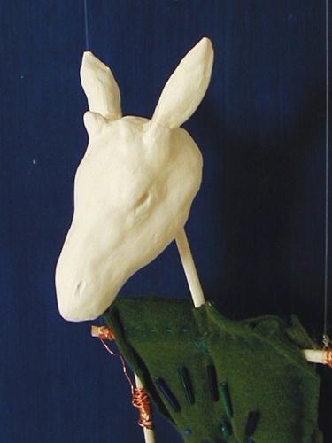 GIRAFFE PUPPET (detail)