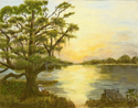 """FISHING UNDER THE OAK"" (thumbnail)"
