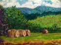 Field with Hay Bales (thumbnail)