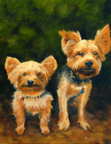 SCOTTIES (COMMISSIONED PAINTING)