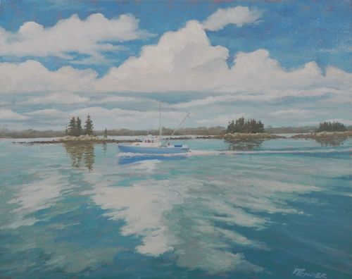 Maine Blues by SEABROOK ISLAND ARTIST GUILD