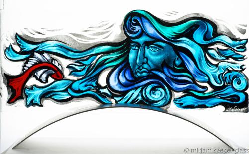 Neptune by mirjam seeger glass