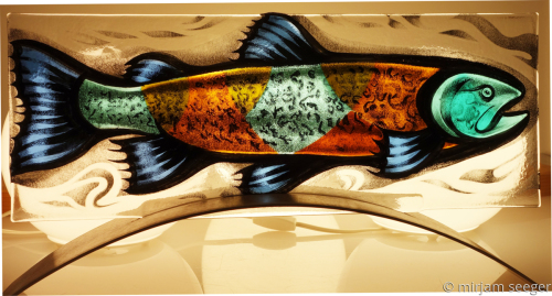 Trout 1 by mirjam seeger glass