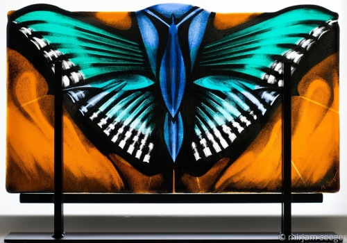 Queen Butterfly by mirjam seeger glass